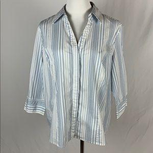Covington 3/4 Sleeve Striped Button Down Shirt